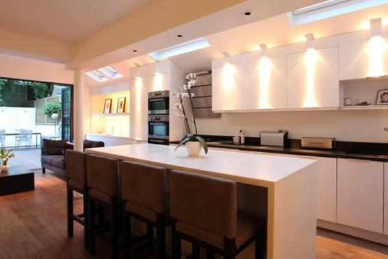 Iluminaci n en la cocina directorio de bienes ra ces - Iluminacion para cocinas modernas ...
